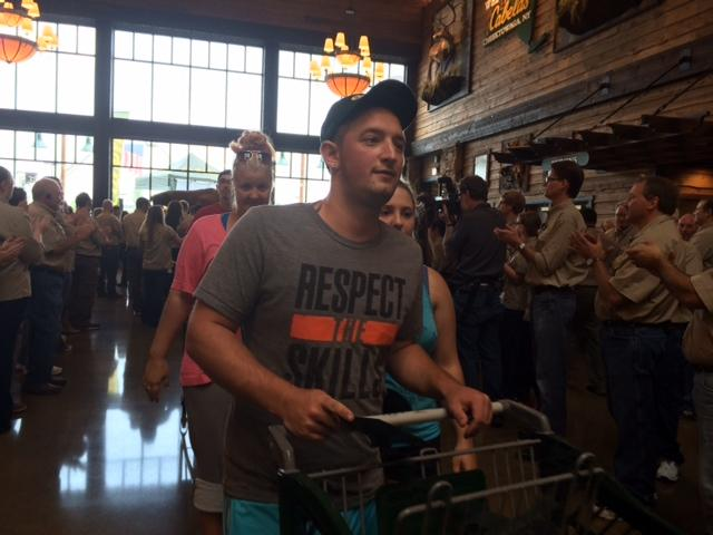 Charles Nash was among the hundreds who lined up to be the first in the new store.