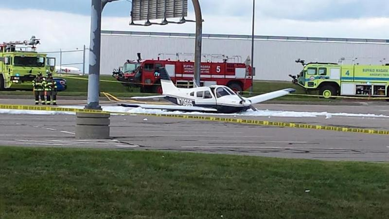 Small plane crash-lands at BNIA.