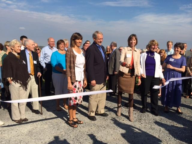 Officials took part in a ribbon-cutting celebration for the Mill Road Scenic Overlook.