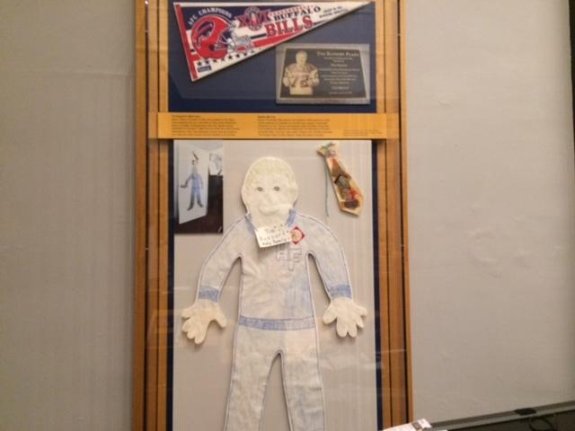 More items included in the Russert exhibit including a 'paper Tim' made by local school children