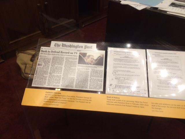 Items in the Russert exhibit