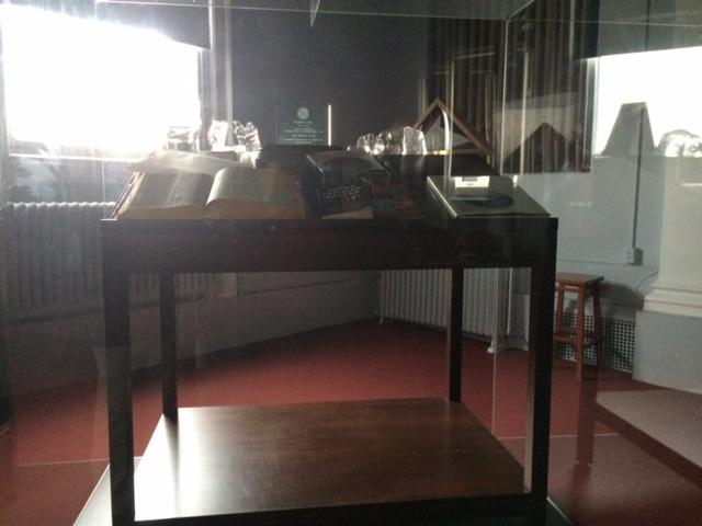 Another desk that Russert used that part of the exhibit