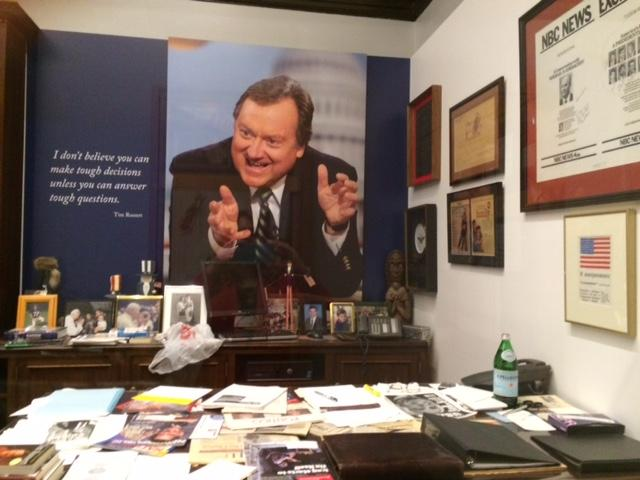 """Inside Tim Russert's Office: If It's Sunday, It's 'Meet the Press'"""
