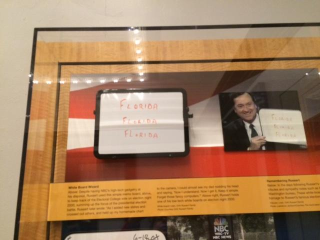 Tim Russert exhibit includes his famous 'Florida, Florida, Florida' white board