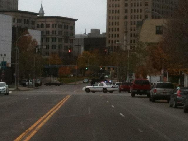 Buffalo Police are blocking off Broadway