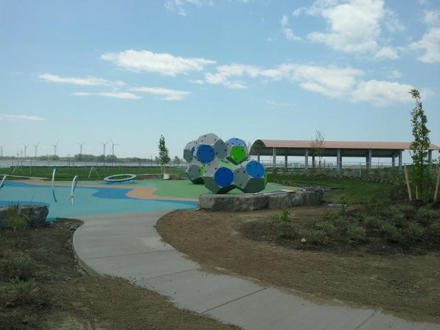 Modern elements are part of the design of Buffalo Harbor's nautical-themed playground