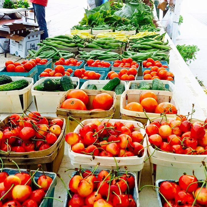 Tomatos are always a popular item at the downtown market