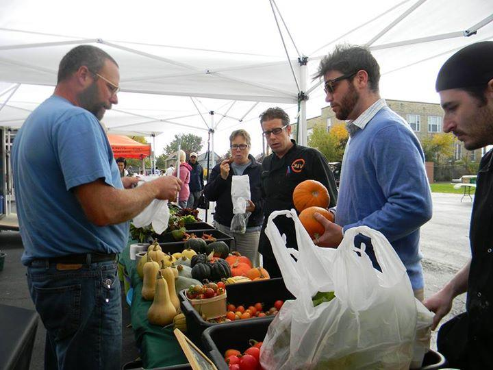 Plato Dale Farm sells to chefs from Hertel Avenue's Craving restaurant at the North Buffalo Farmers Market
