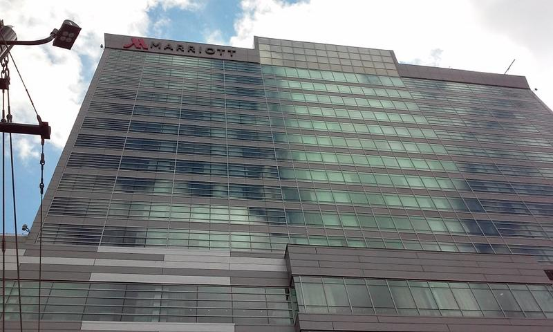 The Buffalo Marriott HarborCenter opened for business on August 27, 2015.