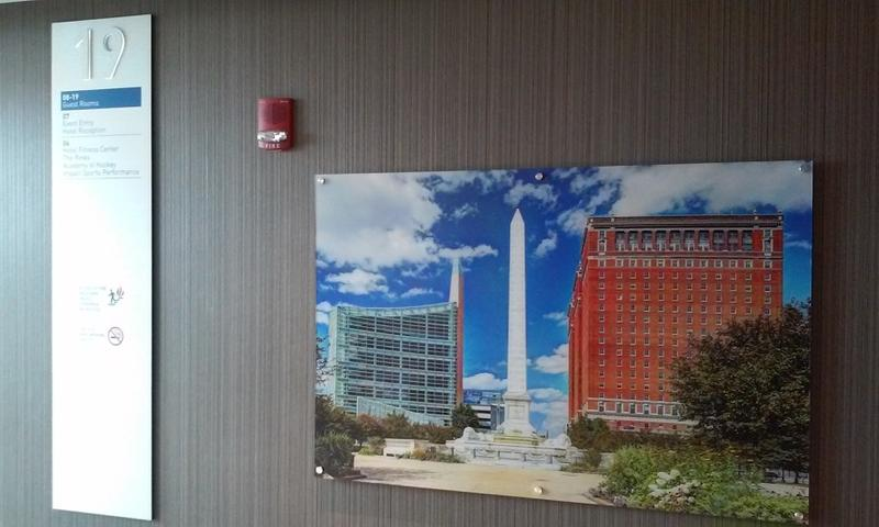 Artwork displayed in public spaces and in suites throughout the hotel feature Buffalo themes.