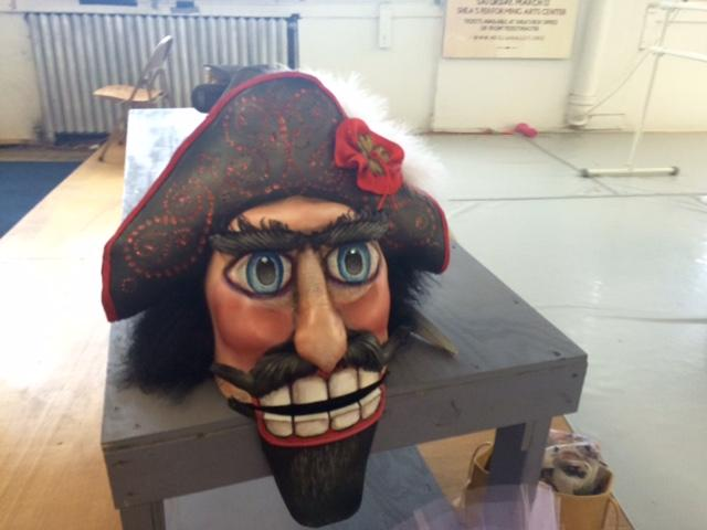 The Nutcracker head to be worn by Sergio Neglia in the performance