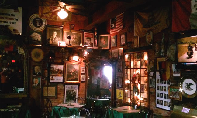 A view of the interior of Founding Fathers Pub.