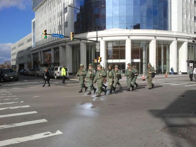 Vietnam reenactors took part in the 2015 Veterans Day parade