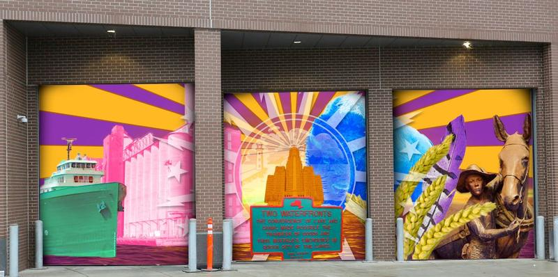 View the six options for the HarborCenter Public Art Contest.