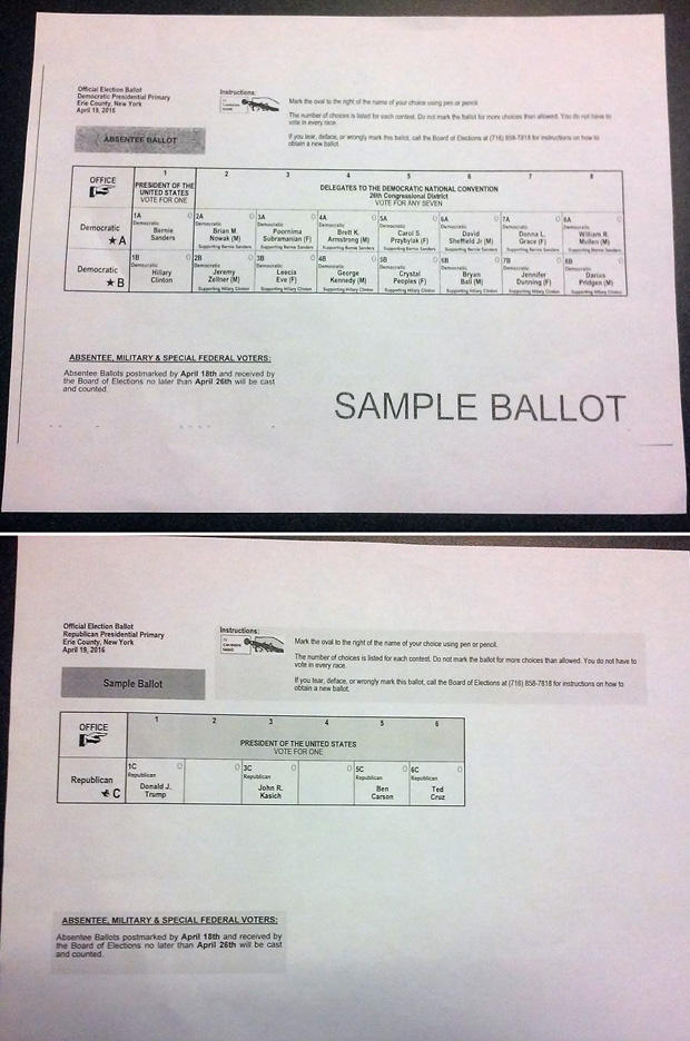Different ballots, different rules in New York primary | WBFO