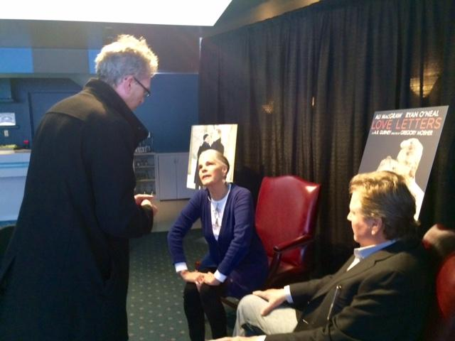 Actress Ali MacGraw & Actor Ryan O'Neal a at 710-Main talking with WBFO Theater Talk co-host Anthony Chase..