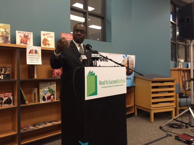 Mayor Brown speaks at news conference