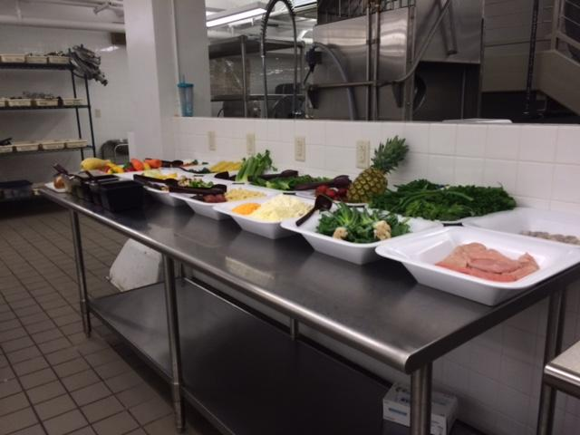 Food for Emerson School of Hospitality students to prepare