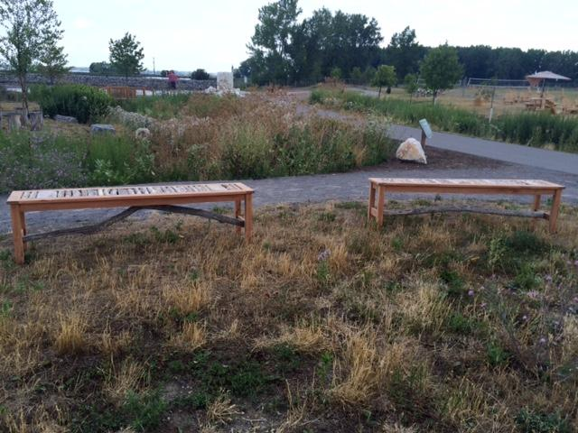 New benches placed at  Wilkeson Pointe.