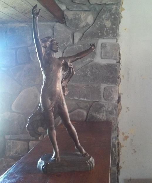 """This copy of """"Pippa Passes,"""" a statue Darwin Martin gifted to his wife Isabelle, is now at the Graycliff Estate."""