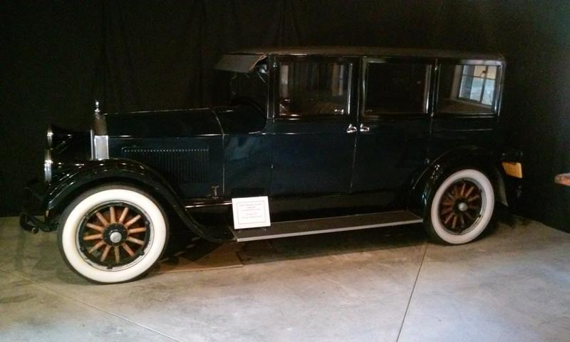This 1927 Pierce Arrow automobile is on loan to the Graycliff Estate from the Buffalo Transportation Pierce Arrow Museum
