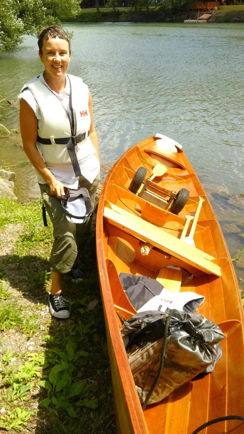 Marie Lorenz New York City artist paddles from Buffalo to New York City on the Erie Canal.