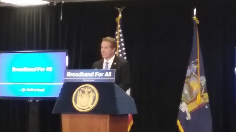 Cuomo promises broadband access across New York State   WBFO