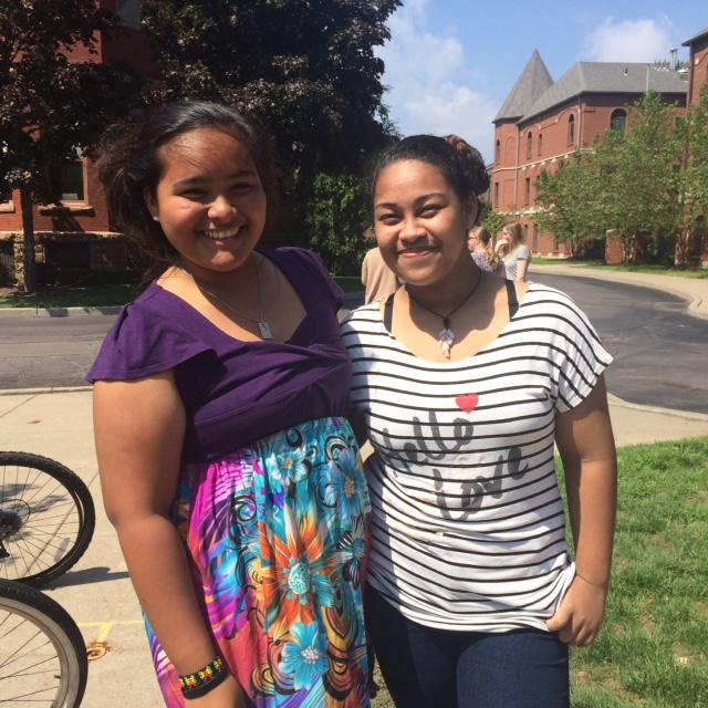 Krystal Saimon & Annalyn Tareg are both from Micronesia attending Canisius College in Buffalo.