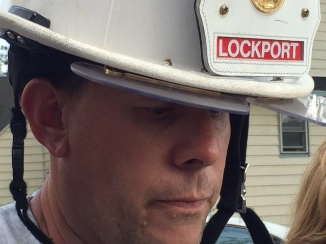 Lockport Fire Chief Patrick Brady providing fire update Thursday afternoon