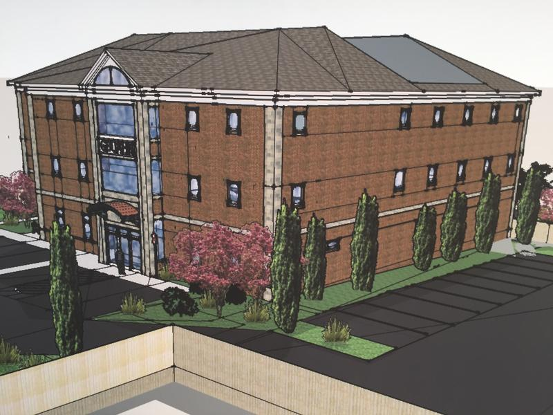 An original rendering of the GBUACO 7th Street medical facility