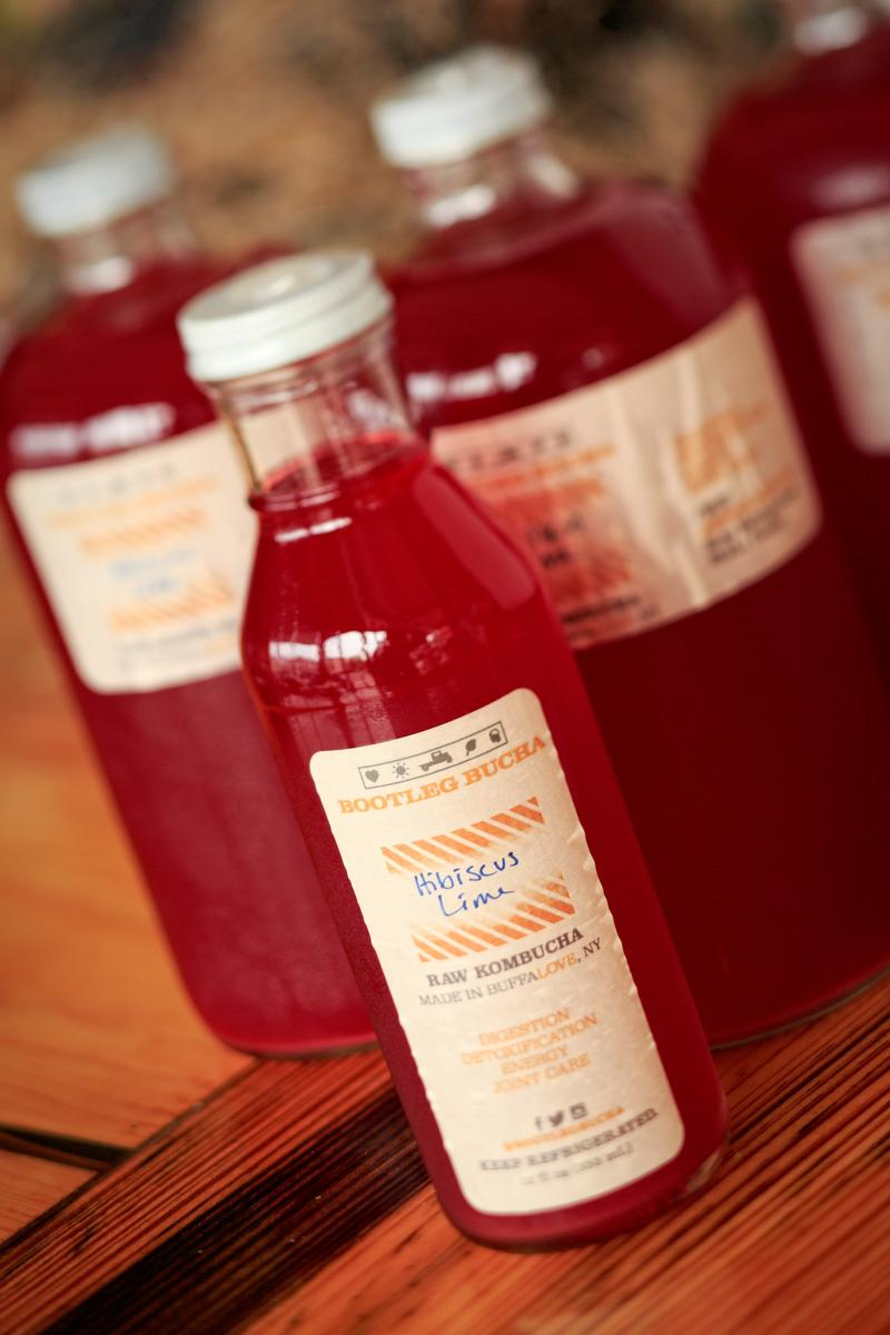 Hibiscus Lime is just one of the many kombucha flavors sold at Bootleg Bucha.
