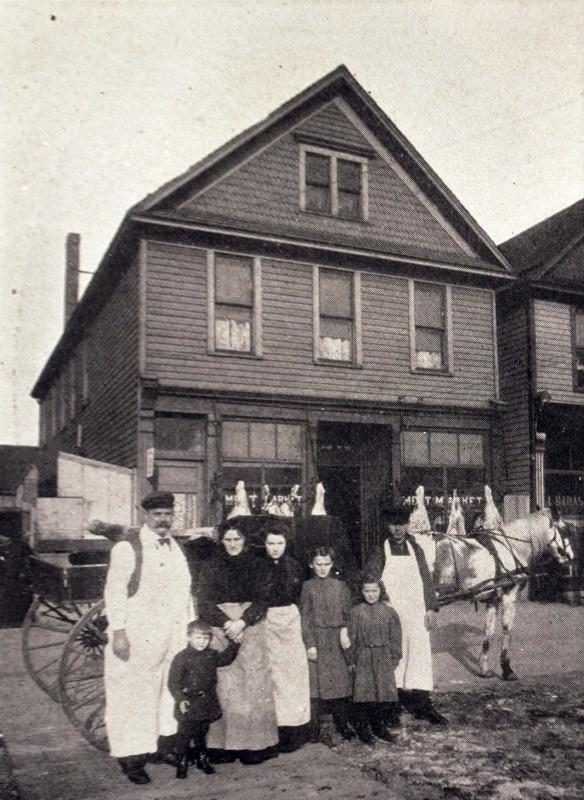 An immigrant family at their butcher shop and home in early 20th-century Buffalo.