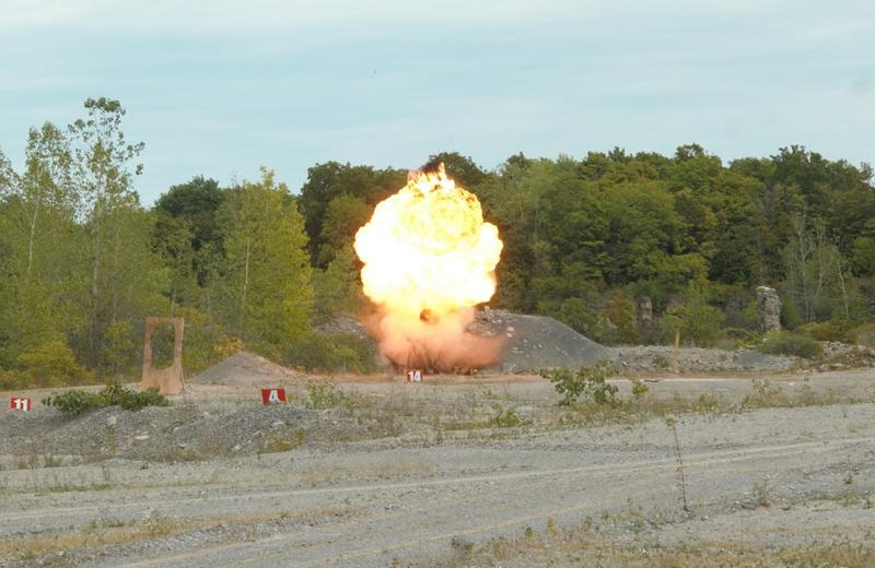 Another explosive device is set off by federal agents during a training course Wednesday in Niagara County.