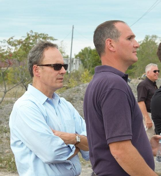 Among those observing the demonstration Wednesday was U.S. Attorney William Hochul (left). At right is ATF spokesman Matthew Myerson.