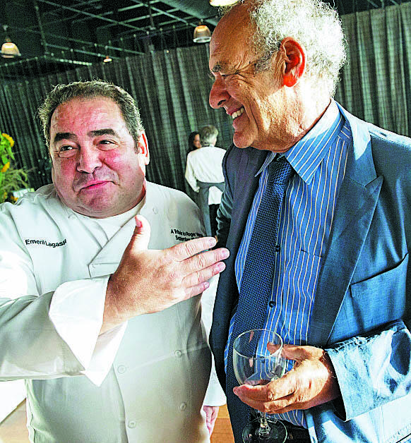 Shep Gordon  with long-time friend and former client Chef Emeril Lagasse.