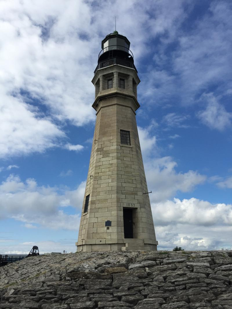 Sitting at the northern tip of the Buffalo's Outer Harbor is the Buffalo Lighthouse. Built in 1833, it is the city's oldest structure still standing in its original place.