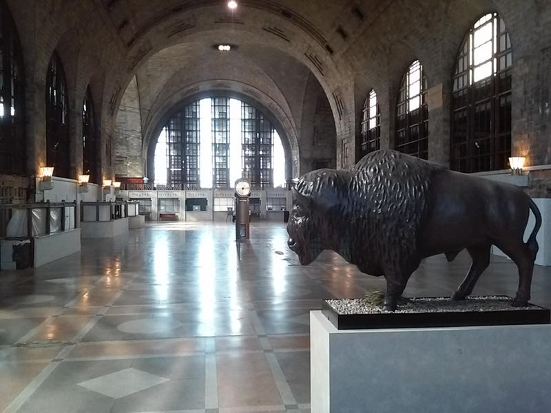 A view of the empty Central Terminal from inside. Advocates are hoping the former train station may be revived in that role when New York State invests in a new Buffalo train station in 2019.