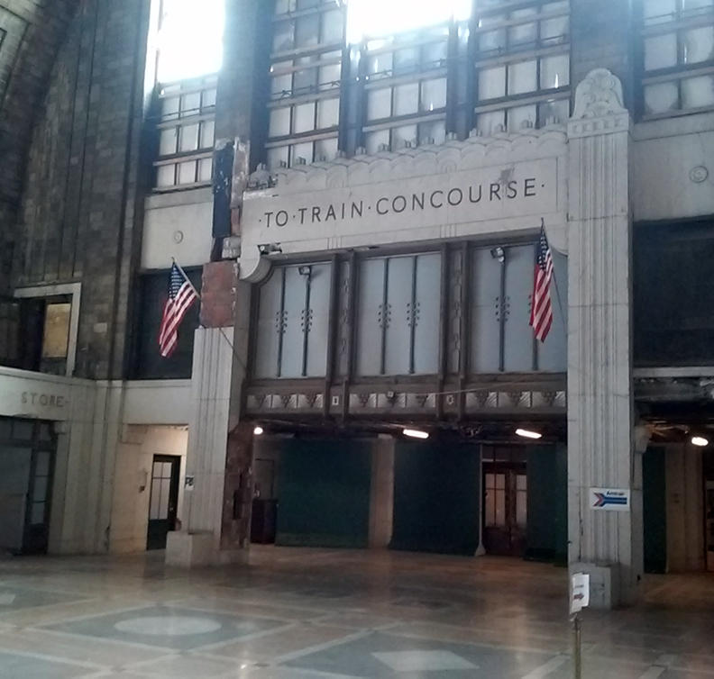 Another view from inside the Central Terminal. Although the former station welcomed its last trains in 1979, it remains used for tours and special events.