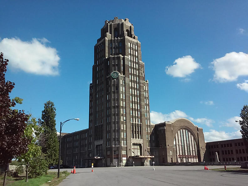 An exterior view of the Central Terminal. Many hope the East Side landmark will be selected - and thus revived - when New York invests in a new train station project in 2019.