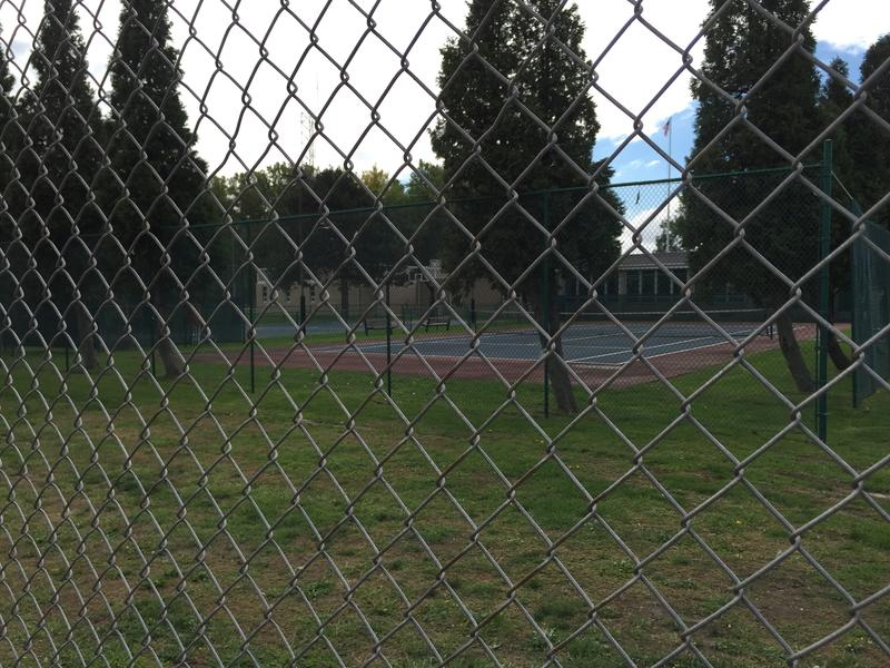 Fenced off basketball and tennis courts are among the properties on the Coast Guard station that Congressman Brian Higgins wants to see made accessible to the public at Lighthouse Point Park.
