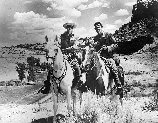 Jay Silverheels as Tonto (right), with Clayton Moore in the popular 1950s TV series The Lone Ranger. Silverheels was born Harry J. Smith, part of a prominent Mohawk-Seneca family at Six Nations near Brantford, Ont.