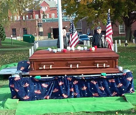 After the ceremony in the chapel, Fink's coffin was brought to his gravesite in Forest Lawn Cemetery.