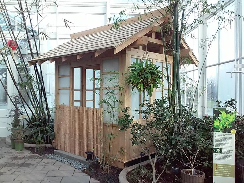 A tea house within the new Asian garden.