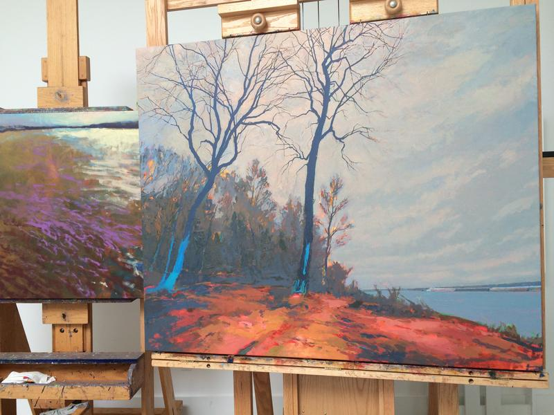 Brilliant colors and an eye for remarkable landscapes are common in Paquette's work.