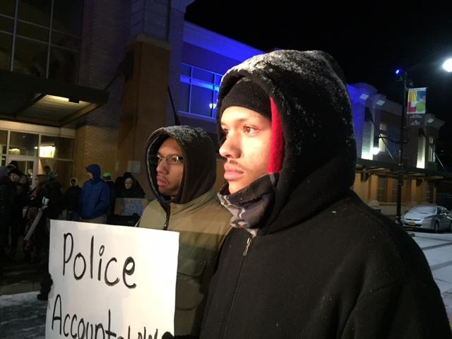 A rally was held in front of Buffalo's B District Police Station last week to voice concerns over the death of Wardel Davis, 20, who died while in police custody.