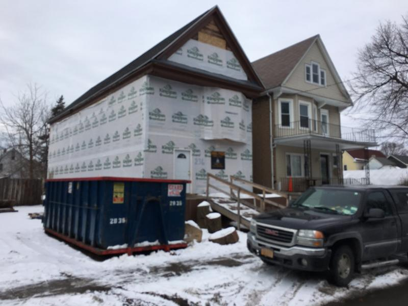 "This home being renovated by PUSH is also a ""training site"" for new construction workers."