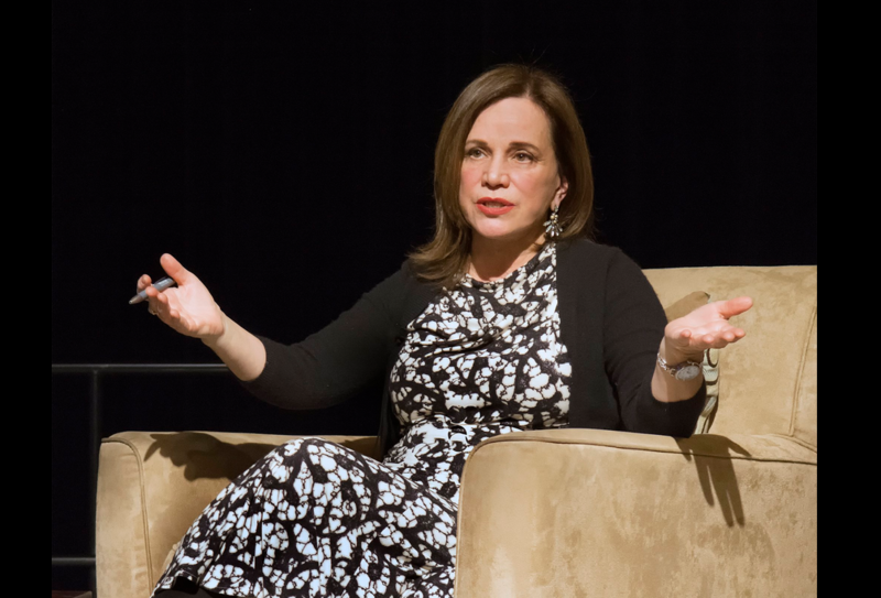 NPR's Renee Montagne shares career stories with the audience