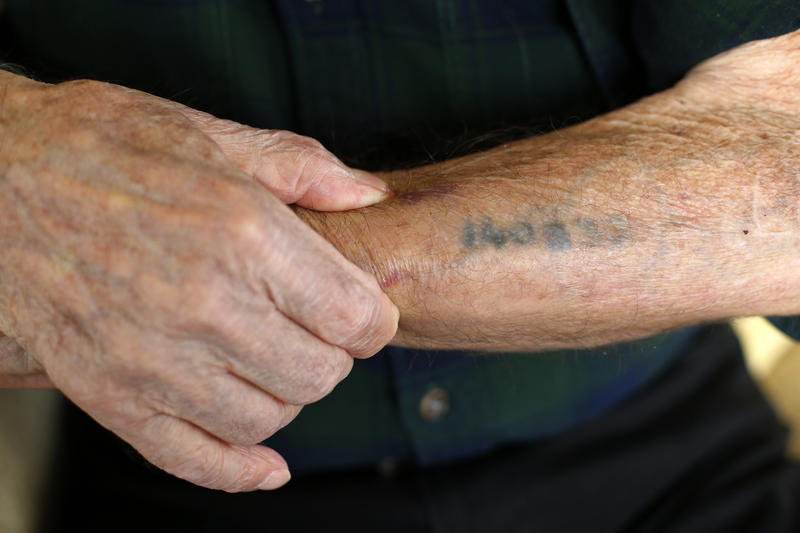 A serial number tattoo offers a grim reminder of the Holocaust for one local survivor.