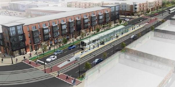 Rendering of possible Metro Rail extension.