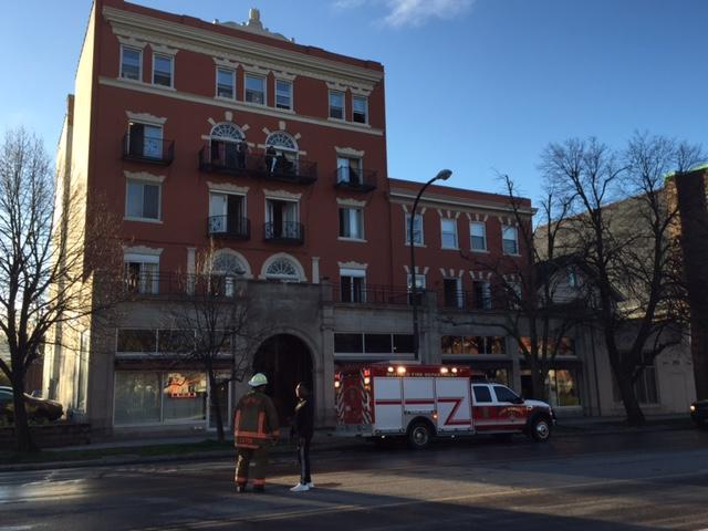 The fire occurred on the first floor of 401 Delaware Avenue in the back of first-floor restaurant Chris' New York Sandwich Shop..